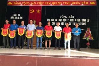 Công đoàn cơ sở VQG Phong Nha – Kẻ Bàng tổng kết các hoạt động hưởng ứng kỷ niệm 90 năm ngày thành lập Công đoàn Việt Nam (28/7/1929-28/7/2019)